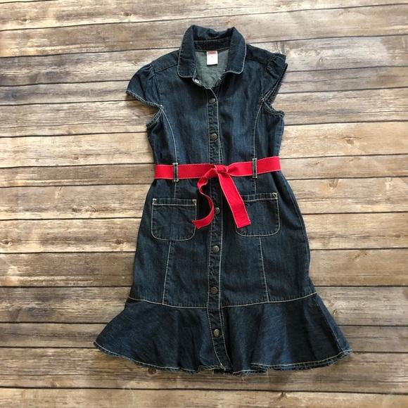 Vintage Gymboree denim dress w/belt! Size 9